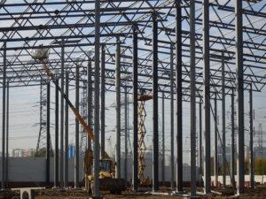Монтаж складского комплекса