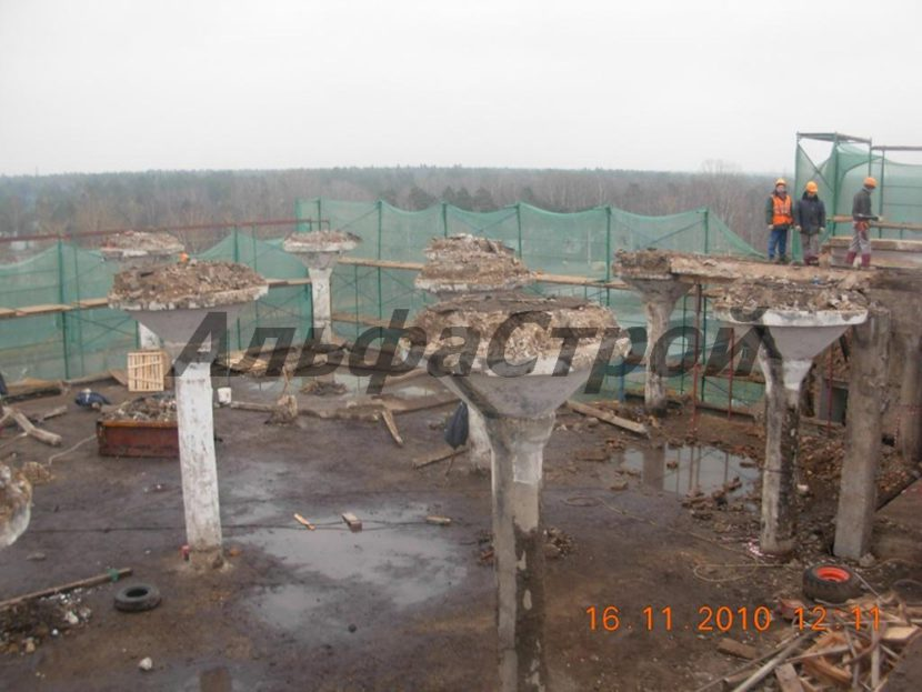Демонтаж колонн