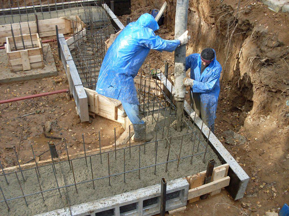 На фундамент бетон или